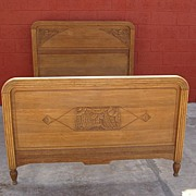 Antique Furniture French Art Deco Antique Hand Carved Bed FREE SHIPPING