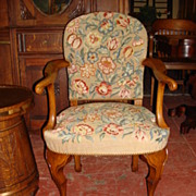 Antique Queen Ann Needle Point Armchair Antique Furniture