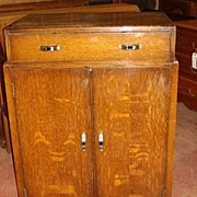 English Art Deco Cabinet Chest Dresser
