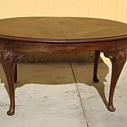 Antique Furniture French Antique Queen Ann Dining Table Library Table