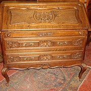 French Antique Break Front Secretary Desk