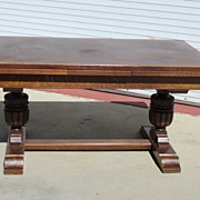 French Antique Tudor Dining Table Library Table Desk Antique Furniture
