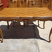 Antique Furniture Country French Antique Dining Table Library Table Antique Dining Room ...