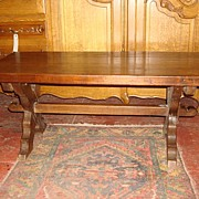 French Antique Rustic Coffee Table Arts and Crafts Craftsman Coffeetable