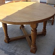 Antique Furniture French Antique Round Rustic Dining Table