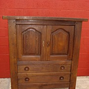 Antique furniture French Antique Rustic Cabinet Server Antique Cupboard Antique Mission ...