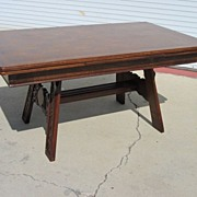 Dutch Antique Table Library Table Desk Antique Dining Room Furniture