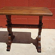 Antique Furniture French Rustic Side Table Coffee Table Lamp Stand Antique Telephone Stand