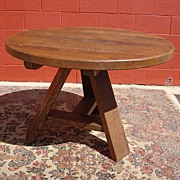 Antique Furniture Spanish Antique Round Rustic Dining Table Arts and Crafts Mission