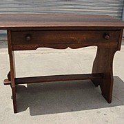 Antique Furniture French Antique Library Table Rustic Antique Desk Arts and Crafts Craftsman .