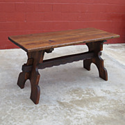 Spanish Antique Furniture Antique Rustic Dining Table Library Table