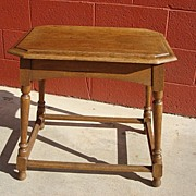 Antique Furniture French Antique Rustic Coffee Table Side Table Lamp Stand
