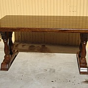 Antique Furniture French Antique Rustic Table Library Table Desk