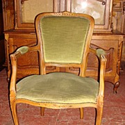Beautiful French Antique Hand Carved Arm Chair