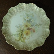 RARE Antique Doulton Burslem Hand Painted Plate, c.1880 - 1890 Date Numbers
