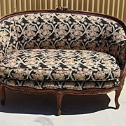 Antique Furniture French Antique Carved Walnut Sofa Couch Settee