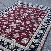 Original Oriental Silk and Wool Carpet Rug