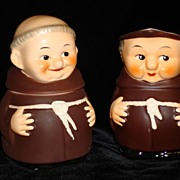 2 Piece Hummel Goebel Friar Monk Creamer - Pitcher and Sugar Jar figurine