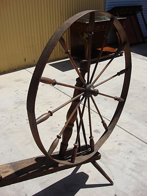antiques online - spinning wheel