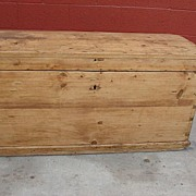 American Primitive Antique Pine Chest Trunk