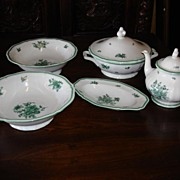 5 Large Pieces of Rosenthal China Germany Tea Pot 2 Large Bowls Soup Bowl With Lid Dish - Tray