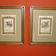 Two Very Important Antique Colored Engravings Charles Grignion 1776 Horse Equestrian Themed
