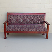 American Antique Solid Mahogany Settee Bench Settle Couch Sofa