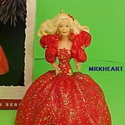#1 Holiday Barbie Series 1993 Hallmark Ornament