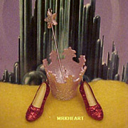 Wizard of OZ Magic of Glinda Hallmark Miniature Ornament Set 2006