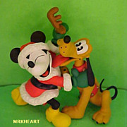 Disney Mickey Mouse Pluto Favorite Reindeer 1998 Hallmark Ornament