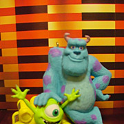 Disney Monsters Inc Sulley and Mike 2002 Hallmark Magic Ornament Features Sound