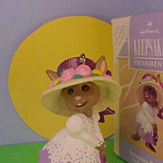 Hallmark Springtime Bonnets Bunny Series 1993 Spring Easter Ornament New