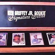 SOLD Signed Ken Griffey Jr. Rookie Signature Series Porcelain Baseball Cards Set