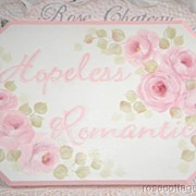 Shabby HP Cottage Pink Roses~Romantic SWEET Sign!