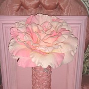 Cottage Chic Pink Rose Vase VINTAGE Frame