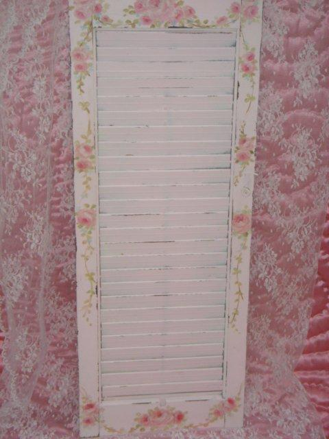 Shabby Chippy Cottage Shutter Memo Board HP Roses