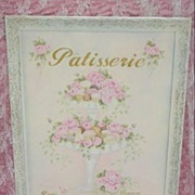 HP Shabby Roses French Chic Patisserie Sign