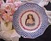 Magnificent Lady Portrait Plate~RoSeS & BLUES