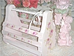 Pink Wooden Tote ~ HP Roses ~ So Sweet & Chic