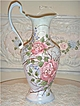 PARIS Chic HP Roses Tall Pitcher~Metal Vase