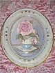 Chic Tea Cup Rose Painting, Ornate Shabby Frame