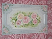 Gorgeous Rose Painted Vintage Cabinet Panel
