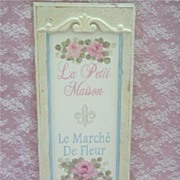 Gorgeous Romantic Cottage Painted Door Panel