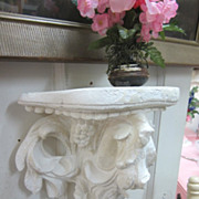 Shabby Creamy White Vintage Plaster Sconce...Cottage Chic Delight