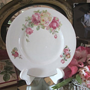 Vintage Bavarian Cabinet Plate...Pink Roses Galore...Vintage Chic