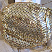Vintage Formal Whiting Davis Evening Purse...Luscious Gold Mesh