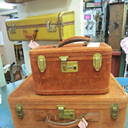 Vintage Brown Suede Suitcase Suit Case...Shabby Delight