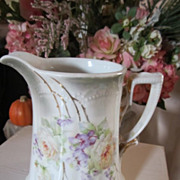 Vintage German Milk Pitcher...Roses Galore...Shabby Chic Delight Vintage German Milk Pitcher..