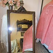 Gorgeous Vintage Mirror...Shabby Decorative Delight...Carved Beauty
