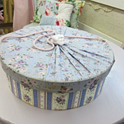Vintage Hat Storage Box...Shabby Fabric Delight